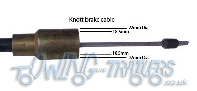 Identifying trailer brake cables (Knott) with 22mm cup