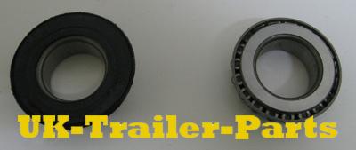 New trailer wheel bearings from behind