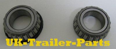 New trailer wheel bearings