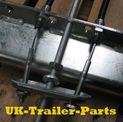 Threaded single axle compensator