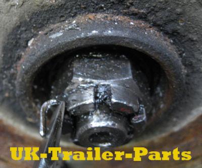 Remove the axle nut