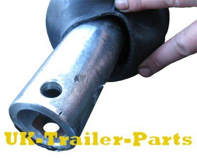 Braked coupling drawbar