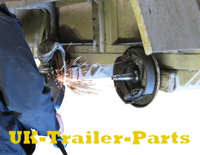 Remove the weld with a grinder