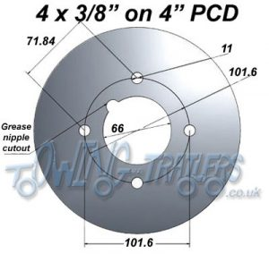 "4 x 3/8"" on 4"" PCD"