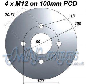 4 x M12 on 100mm PCD