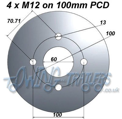 4 x M12 on 100mm PCD